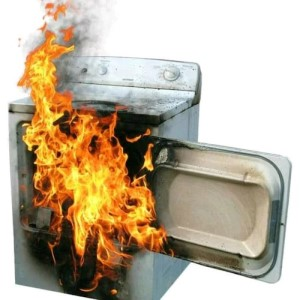 Clogged dryer vent causes fire